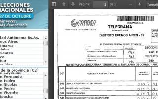 Cada ciudadano puede consultar los telegramas, mesa por mesa.