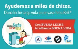 Tetra Pak donará leche a los Bancos de Alimentos del país