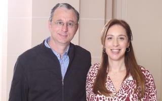Martín Torre junto a María Eugenia Vidal