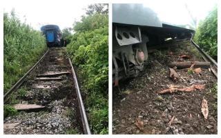 Descarrilamiento en enero de 2019. Fotos: Crónica Ferroviaria