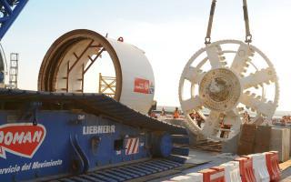 La tuneladora hará los 12 kilómetros del emisario.