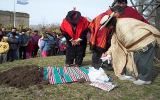 Celebración de la Pachamama.