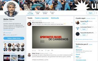 Walter Correa dejó de publicar mensajes en Twitter.
