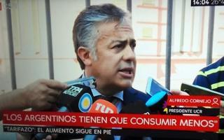 El antes y el después: Cornejo se contradijo en sus dichos al hablar con la prensa.