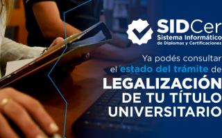 Trámite de legalización del título universitario: Cómo saber el estado en que está por internet