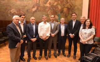 Junto al vicegobernador e intendentes, Tagliaferro participó de un homenaje por los 35 años de democracia