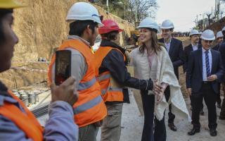 Vidal  anunció el plan de obras provincial desde La Plata.