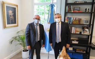 Con variada agenda, el presidente recibió al intendente de Tigre Julio Zamora en la Quinta de Olivos