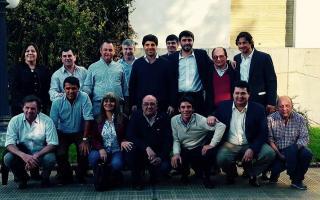García de Luca con los intendentes. Foto: Ministerio del Interior