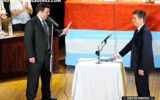 Ustarroz juró como Intendente. Foto: NoticiasMercedinas