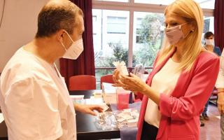 La vicegobernadora provincial visitó el hospital plantense