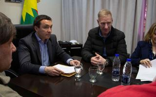Watson y el secretario General del SOEM, Darío D'aquino.