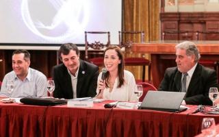 Vidal también participó del encuentro.