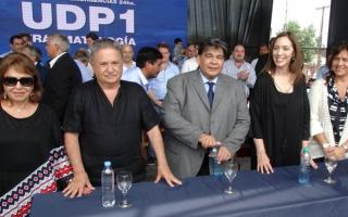 Chiche Duhalde, el ex presidente, Ishii, Vidal y Ortiz.