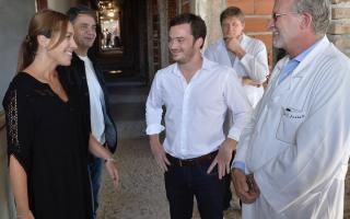 Vidal visitó las obras en el Hospital Cetrángolo.