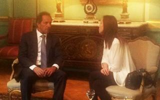 A diferencia de Cristina y Macri; Scioli y Vidal se mostraron juntos.