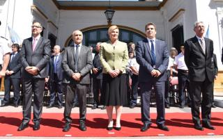 Presidenta de Croacia y funcionarios provinciales rindieron homenaje a Juan Vucetich