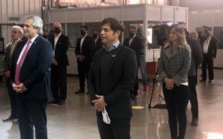 Axel Kicillof visitó el distrito de Julio Zamora