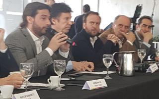 Salvai, Posse y el secretario de Comunicación, Federico Suárez. Foto: La Noticia 1