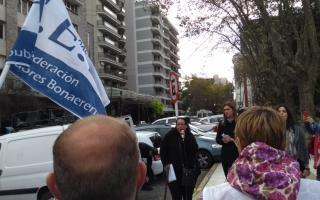 Radio abierta de los docentes en Mar del Plata. Foto: LN1