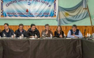 El el encuentro se desarrolló en el Centro Único de Jubilados y Pensionados de Villa Tesei. Foto: Prensa