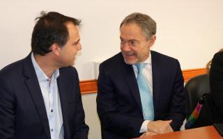 Guelvenzú se reunió con el ministro de Justicia. Foto: Prensa