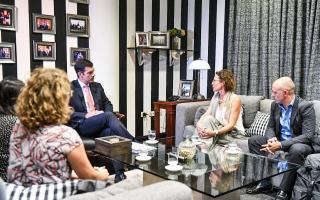 Urtubey se reunió con representantes de Unicef.