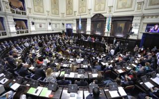 """La cámara de Diputados bonaerense el proyecto de ley  """"anti-motochorros"""". Foto: Prensa"""