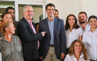 El gobernador de Salta y su par de Misiones, Hugo Passalacqua, estuvieron juntos en la ciudad de Posadas. Foto: Prensa