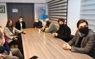 Tambien estuvo presente el jefe de gabinete, Carlos Bianco