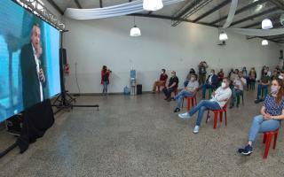 Zabaleta compartió junto a dirigentes del peronismo de Hurlingham el acto encabezado por Fernández