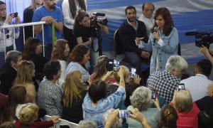 Cristina Kirchner recorrió este martes el partido de Berazategui.