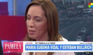 """Vidal en TV al enterarse de la notica: """"Ojalá que no sea (Santiago Maldonado)""""."""