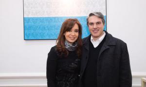 Cristina junto al ex Intendente de Chacabuco, Darío Golía.