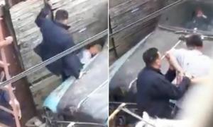 El video fue registrado por un vecino y difundido en las redes.