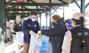 Se entregaron más de 3.000 bolsones de alimentos.