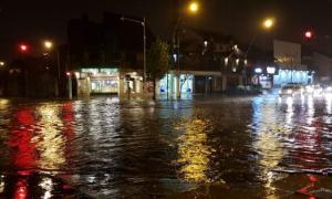 Por las lluvias hubo evacuados en Mar del Plata.