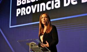 Vidal en modo campaña ante empresarios en Mar del Plata.