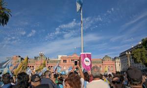 Plaza de Mayo, centro nacional de la protesta.
