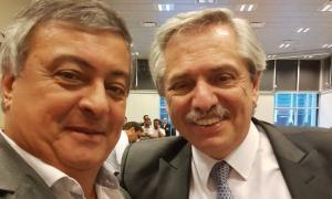 Selva junto al Presidente Alberto Fernández.