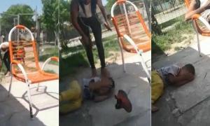 Captura de video donde se muestra la agresión.