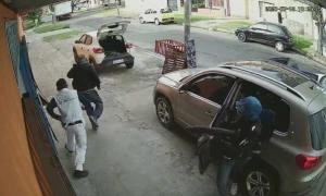 Imagen de la fuga de los delincuentes.