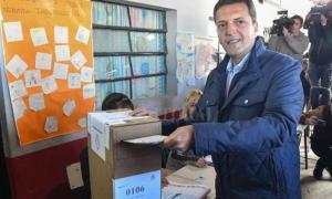 El líder de 1País ya emitió su voto en Tigre. Foto: Prensa Massa.