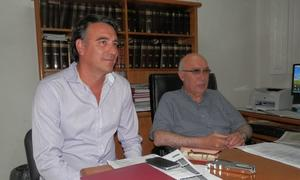 Gorosito estuvo acompañado de Secretario de Hacienda, Sergio Olarticoechea.