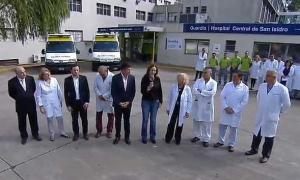 La iniciativa fue anunciada en el Hospital Central de San Isidro ''Dr. Melchor Posse''.Foto: Captura de pantalla