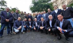 El encuentro reunió a los jefes comunales de todas las fuerzas políticas. Foto: Prensa