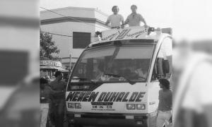 Campaña Menem - Duhalde, presidenciales de 1989. (Foto: Télam)