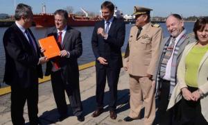 Collia y Breitenstein recorrieron puertos de la provincia. Foto: BA Noticias.