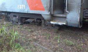 El tren descarriló a 4 kilómetros de la estación Castilla. Foto: saladeprensa.net