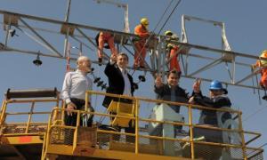 Randazzo recorrió las obras del ferrocaril Roca: Constitución-La Plata.